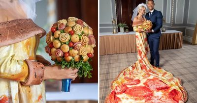 Brides Who Love Pizza Can Now Get Married In A Pepperoni Pizza Gown