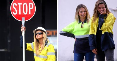 Lollipop Ladies Working At Construction Sites Are Making $100 Per Hour