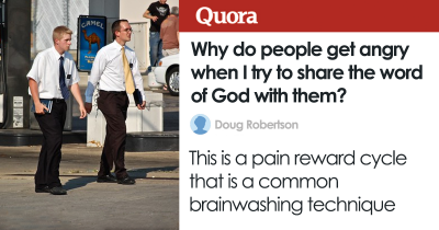Someone Asks Why People Don't Like Their 'Word Of God' But Finds They're Being Brainwashed
