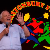 Sir David Attenborough made a surprise appearance on Glastonbury Festival.