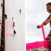 Children From The US And Mexico Play Together On These Seesaws Built On The Border Wall.