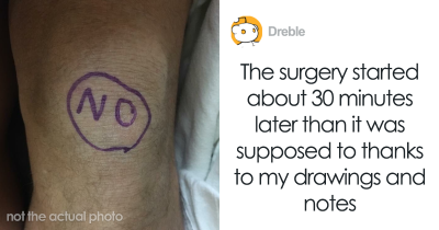 Doctors Shift Guy's Surgery Because They Needed Time To Stop Laughing At His Body Drawings.