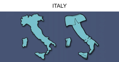 Guy Re-Illustrate The Map Of Europe By Visualizing What Countries Look Like