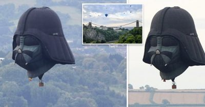 Darth Vader Hot Air Balloon Soars Above Bristol For International Balloon Fiesta