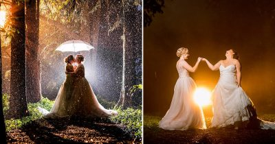 Brides Showcase Their Amazing Photos Taken In Pouring Rain And Reveal Why They Didn't Care About 'Minor Details'