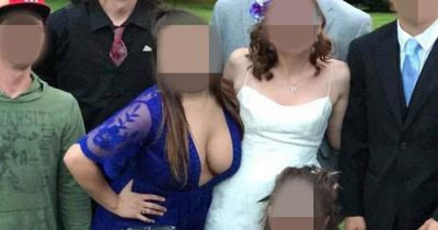 Bridesmaid Branded 'Trashy' For Leaning Forward In A Low-Cut Dress During Wedding Photoshoot
