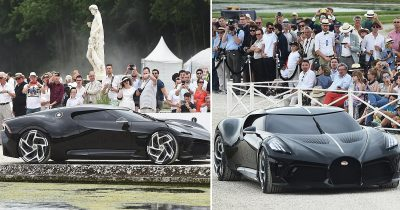 One-Of-A-Kind Bugatti La Voiture Noire Becomes The Most Expensive Car Ever Sold.