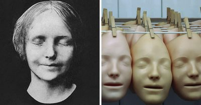 Turns Out, The Modern CPR Doll's Face Is A Replica Of The 19th Century Drowned Woman's Face.