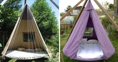 You Can Now Upcycle Your Trampolines Into Dreamy Bed Swings.