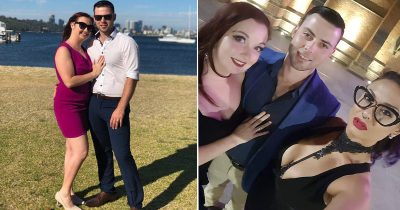 High school sweethearts welcome a third person into marriage.
