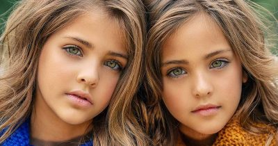 Gorgeous twin girls are dubbed 'most beautiful twin girls in the world'.