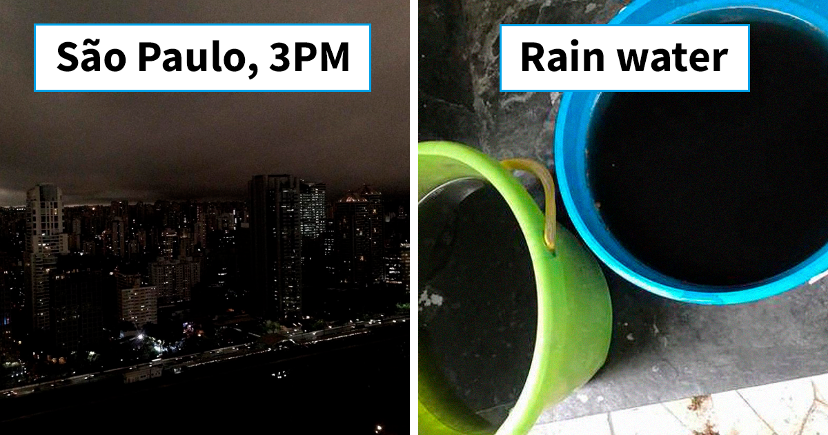 People Post Pics Of Sao Paulo Which Went Black During Daytime From Amazon Wildfires