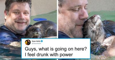 Fans Celebrate Sean Astin's Career After Photos Of Him Holding An Otter Went Viral