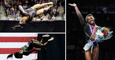 Gymnast Simone Biles, 22, Becomes First Woman To Land A 'Triple-Double'