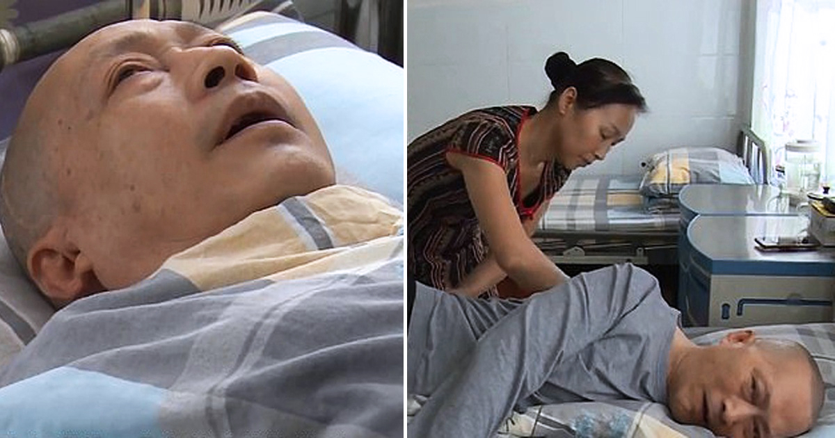 Chinese husband wakes up from 5-year-coma after wife nurses him 20 hours a day daily.