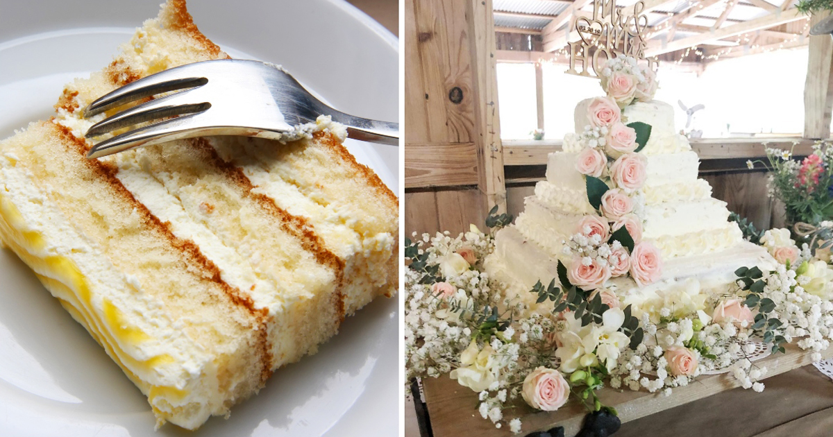 Prudent Couple Makes Wedding Cake Of Less Than $50 Using Costco Sheets